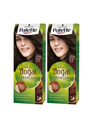 Palette Palette Kalıcı Doğal Renkler 4-0 Amber Kahvex 2 Paket Renkli